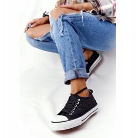 FB2 Női fekete csipke Candice tornacipő 5