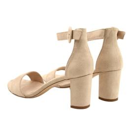 Sandal On Heel Beige Evento 20SD98-1617 bézs 3