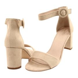Sandal On Heel Beige Evento 20SD98-1617 bézs 2