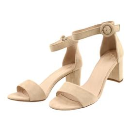 Sandal On Heel Beige Evento 20SD98-1617 bézs 1