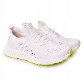 Férfi sportcipő Memory Foam Big Star FF174235 White-Lime fehér zöld 5