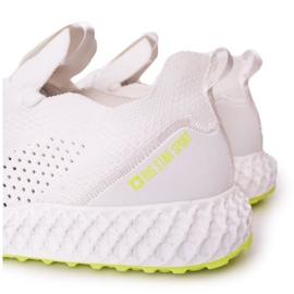 Férfi sportcipő Memory Foam Big Star FF174235 White-Lime fehér zöld 1