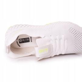 Férfi sportcipő Memory Foam Big Star FF174235 White-Lime fehér zöld 2