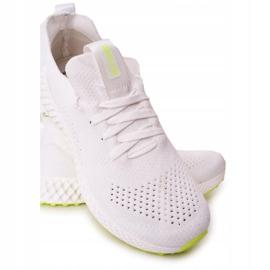 Férfi sportcipő Memory Foam Big Star FF174235 White-Lime fehér zöld 3