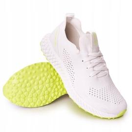 Férfi sportcipő Memory Foam Big Star FF174235 White-Lime fehér zöld 4