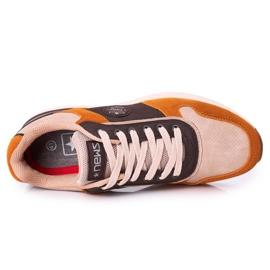 NEWS Férfi sportcipők Sárga-barna Harold cipők sokszínű 4