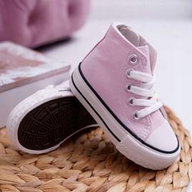 FRROCK Gyerek klasszikus magas rózsaszínű Filemon cipők 3