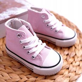 FRROCK Gyerek klasszikus magas rózsaszínű Filemon cipők 2