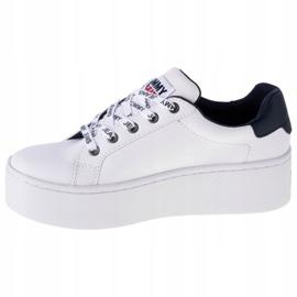 Tommy Hilfiger Iconic Leather Flatform cipő, EN0EN01113-YBR fehér haditengerészet 1