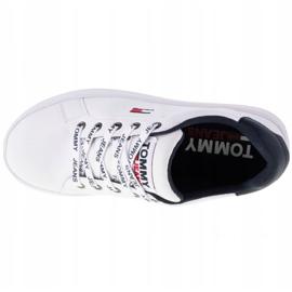 Tommy Hilfiger Iconic Leather Flatform cipő, EN0EN01113-YBR fehér haditengerészet 2