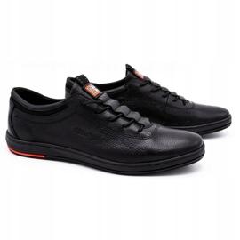 Polbut Férfi bőr alkalmi cipő K23 fekete 1