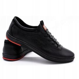 Polbut Férfi bőr alkalmi cipő K23 fekete 2