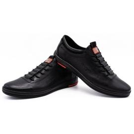 Polbut Férfi bőr alkalmi cipő K23 fekete 4