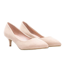 Bézs színű szivattyúk a Like you alacsony sarkú cipőn 1