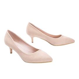 Bézs színű szivattyúk a Like you alacsony sarkú cipőn 2