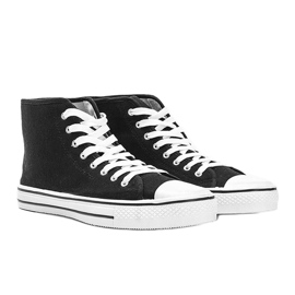 Férfi fekete cipők Gin boka 1