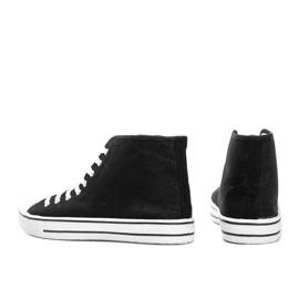 Férfi fekete cipők Gin boka 2